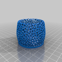 "Download free 3D model Small Voronoi Tealight Holder "" For Real Candles "", Peter-Jan"