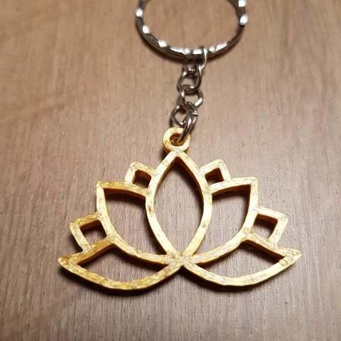 Télécharger plan imprimante 3D gatuit Porte-clés Lotus, Peter-Jan
