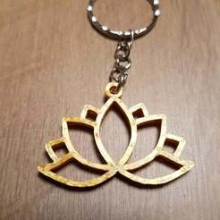 Download free 3D printer designs Keychain Lotus, Peter-Jan