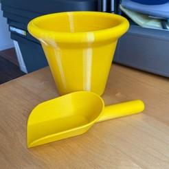 IMG_0823.jpg Télécharger fichier STL bucket shovel sandbox / seau pelle bac à sable • Design à imprimer en 3D, NicolasBitsToParts