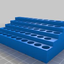 aa08ac41935d000ef73e2e435035a1fd.png Download free STL file My Customized Parametric screwdriver bit holder • 3D print template, bigrjsuto