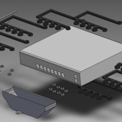 Version2-Assembly.png Télécharger fichier STL Système de montage UniFi US-8-150W 2 • Plan pour impression 3D, bigrjsuto