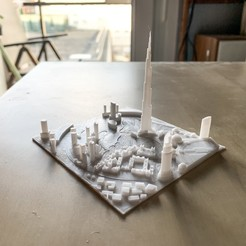 Download free STL file Dubai, Burj Khalifa • Model to 3D print, robertbriac