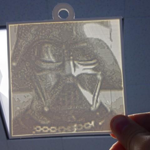 Download free 3D print files Vader Lithopane, Yipcott