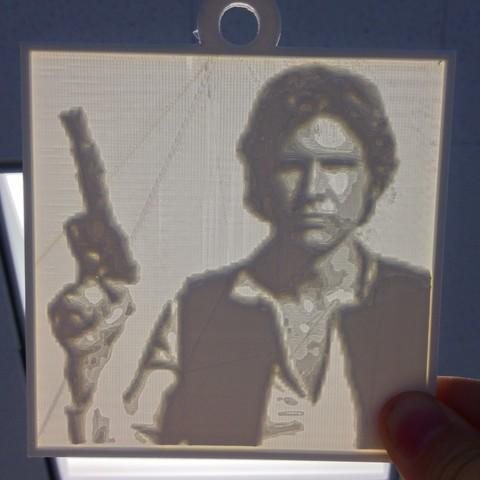 Télécharger fichier STL gratuit Han Solo Lithopane, Yipcott