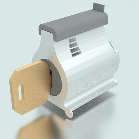 Télécharger fichier impression 3D gratuit Grosse serrure à goupille, Yipcott