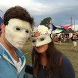 Free 3D printer designs LED Low Poly Masquerade Mask, Yipcott
