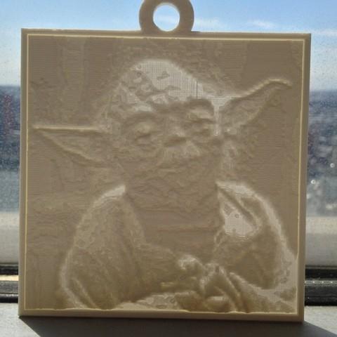 Télécharger fichier imprimante 3D gratuit Yoda Lithopane, Yipcott