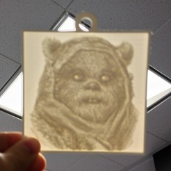 Download free 3D printing files Ewok Lithopane, Yipcott