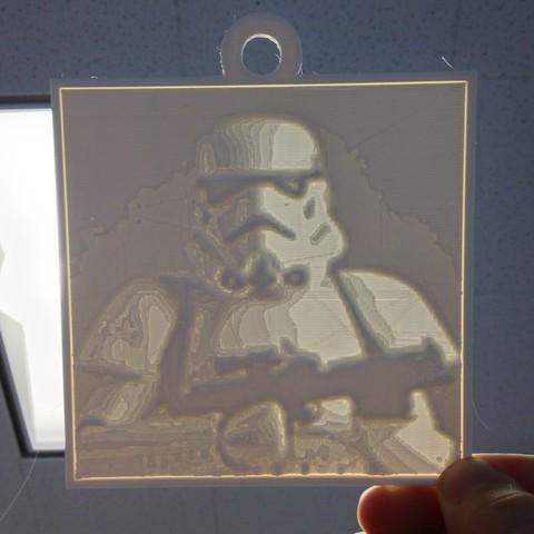 Télécharger plan imprimante 3D gatuit Stormtrooper Lithopane, Yipcott