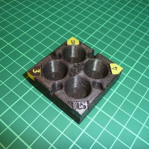 STL files Modular ER20 Collet Tray, printing_bjoern