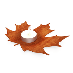 Download 3D printing templates Candle Jar - candle holder - maple leaf, ArtisanDeDemain