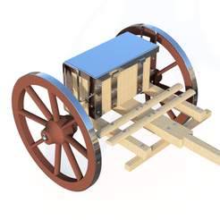 assemblage_b_2019-Aug-28_03-54-49PM-000_CustomizedView12031138454_png.png Download STL file Ancient Cart - old waggon - trailer on horseback • 3D print template, ArtisanDeDemain