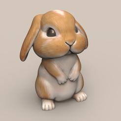 BN03.png Télécharger fichier STL Jolies oreilles de lapin tombantes STL • Modèle imprimable en 3D, seberdra
