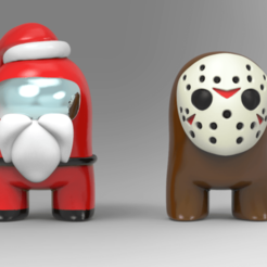 sjj.png Download STL file Santa & Jason are Impostor? • 3D printing template, seberdra