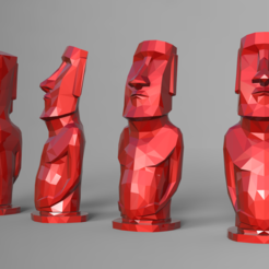 STL files Lowpoly Moai statue - Easter Island 3D print model 3D print model, seberdra