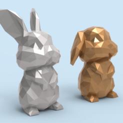 lopoRab.55.png Télécharger fichier STL Low poly Bunny STL • Design pour imprimante 3D, seberdra