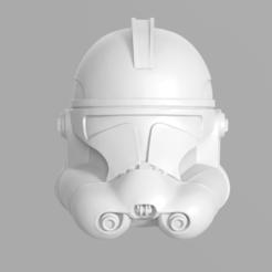 Imprimir en 3D Clone Trooper Phase 2 Helmet Fan Art Modelo de impresión en 3D, seberdra