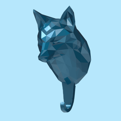 HF01.png Download STL file Fox bust Key Holder 3D • 3D printing object, seberdra