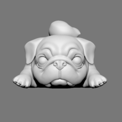Download 3D print files Lazy Pug, seberdra