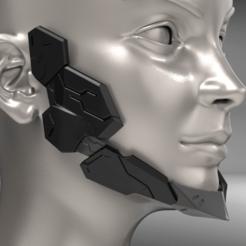 Download STL file Cyborg Jaw Armor Wearable 3D print model, seberdra