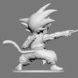 Download 3D printer files Son Goku Fan Art for 3DPrint 3D print model, seberdra