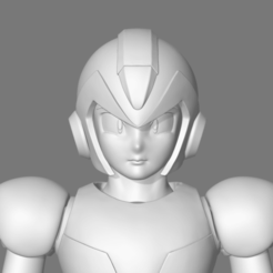 X001.png Download STL file Mega Man X Fan Art 3D print model • 3D printer template, seberdra