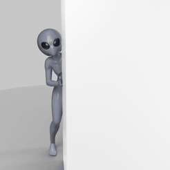 AL.png Download STL file Alien Behind the Wall !? • 3D print model, seberdra