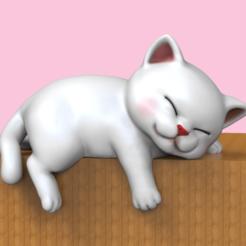 SC.png Télécharger fichier STL Chaton mignon et endormi • Objet pour impression 3D, seberdra