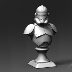 Download 3D model Clone Trooper Phase 2 Bust Fan Art 3D print model, seberdra