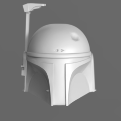 Download 3D printer designs Boba Fett Helmet Fan Art 3D print model, seberdra