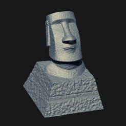 mo01.png Download STL file Moai Keycap • 3D printing design, seberdra