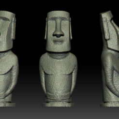Download STL files Moai statue - Easter Island 3D print model, seberdra