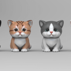 kitten.55.png Download STL file Cute Kitten • 3D printer object, seberdra