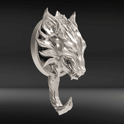 FH.png Télécharger fichier STL Détenteur de la clé Fenrir • Objet imprimable en 3D, seberdra