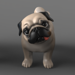 Download 3D printer templates Question Pug 3D print model, seberdra