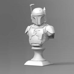 Download 3D printing files Boba Fett Bust Fan Art 3D print model, seberdra