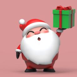 ST01.png Télécharger fichier STL Le mignon Père Noël Chibi • Modèle pour imprimante 3D, seberdra