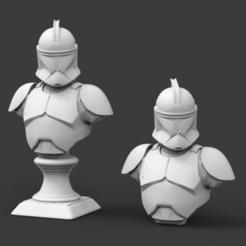CP1.png Télécharger fichier STL Clone Trooper Phase 1 Bust Fan Art 3D print model • Objet pour imprimante 3D, seberdra