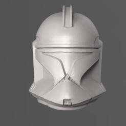 Diseños 3D Clone Trooper Fase 1 Casco Fan Art Modelo de impresión en 3D, seberdra