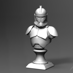 Objet 3D Clone Trooper Phase 1 Bust Fan Art 3D print model, seberdra