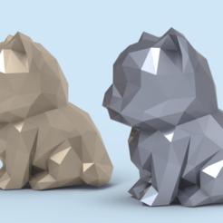LC01.png Télécharger fichier STL Low poly Kitten STL • Plan pour impression 3D, seberdra