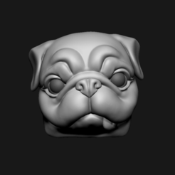 p01.png Download STL file Pug Keycap • 3D printing object, seberdra