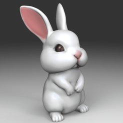 bunny.54.png Télécharger fichier STL Un joli lapin • Design pour imprimante 3D, seberdra