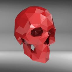 SKL54.png Télécharger fichier STL Poly crâne bas • Design à imprimer en 3D, seberdra