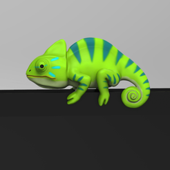 CM.png Download STL file Chameleon for Monitor Climb  • Template to 3D print, seberdra