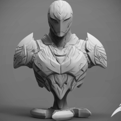 Download STL files The Dark Armor Bust 3D print model, seberdra
