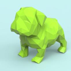 S01.png Télécharger fichier STL Low Poly Bulldog • Objet à imprimer en 3D, seberdra