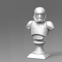 Download STL files 1stOrder StormTrooper Bust Fan Art 3D print model, seberdra