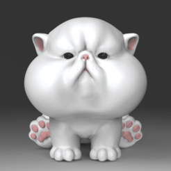 fcc001.57.png Download STL file The Chubbiest Cheeks Cat • 3D printer model, seberdra